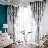 Cortina opaca aislamiento térmico Doble capa Para Dormitorio,salón,Opacas y Visillos Cortina de...