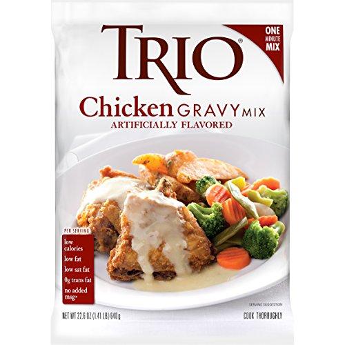 Trio Chicken Gravy Mix, Chicken Gravy, Dehydrated Food, Just Add Water, 22.6 oz Bag