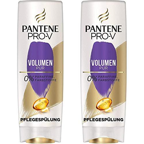 Pantene Pro-V Volumen Pur Pflegespülung Für Feines, Plattes Haar, 2er Pack (2 x 400 ml), Conditioner, Volumen Conditioner, Haarpflege Glanz, Beauty, Volumen Haare