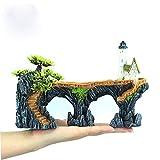 YGZJ Adornos de rocalla de pecera, Natural, no tóxico, Hecho de Resina, decoración de paisajismo del Acuario del Faro de la casa del árbol Grande,