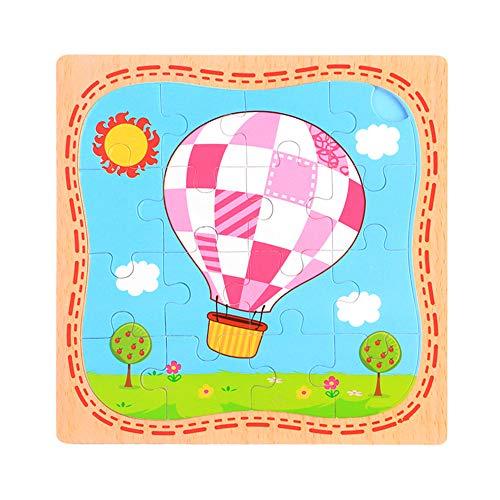 Puzzel Voor 2 Jarigen Jongens Houten Puzzel Kids Peuter Puzzel 2-3 Jaar Houten Houten Puzzel Voor 2 Jarigen Puzzel Voor 2 Jarigen hot&air&balloon