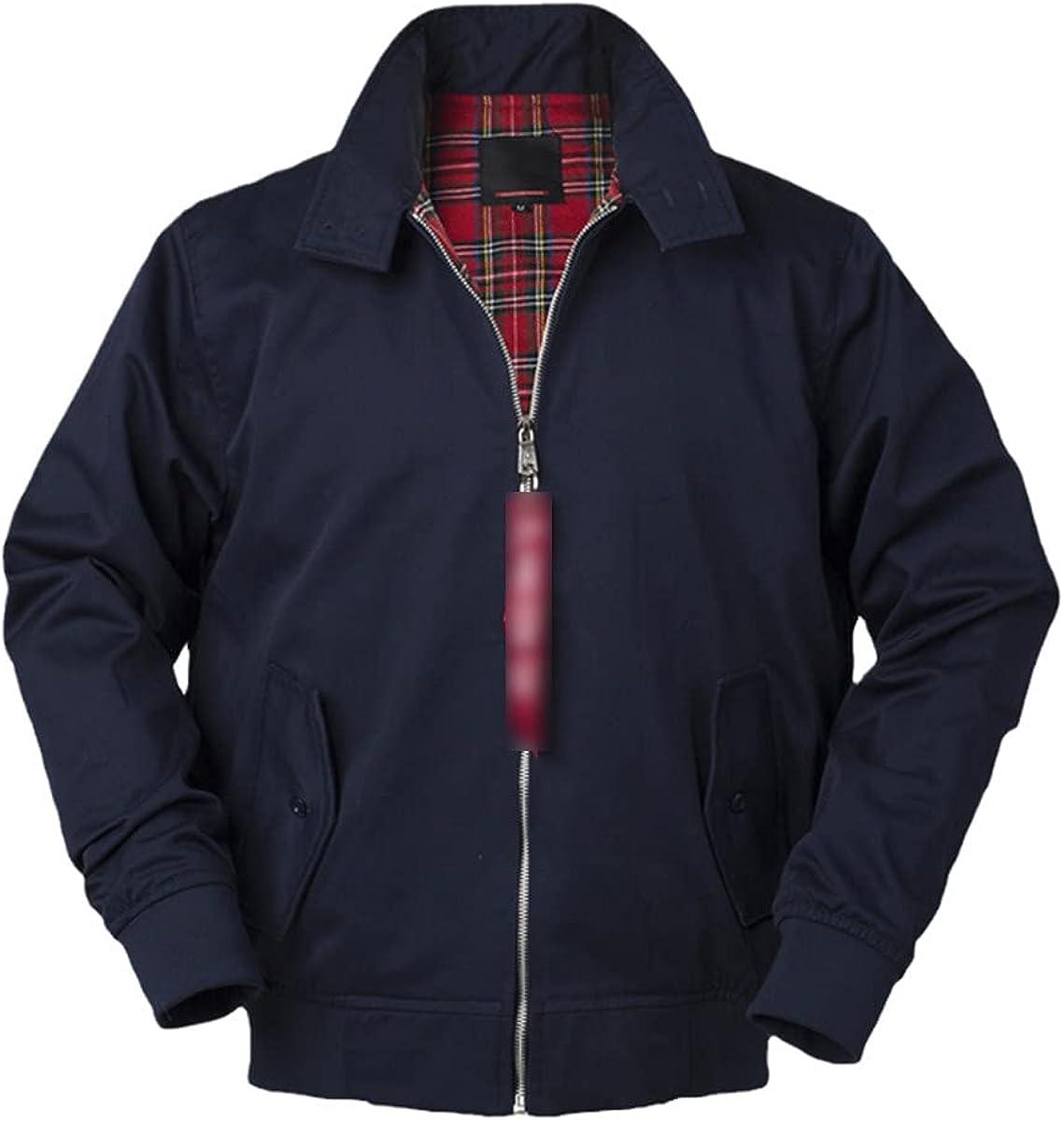 European Solid Color Classic Retro Bomber Jacket Men's Windbreaker Street Style Fashion Jacket