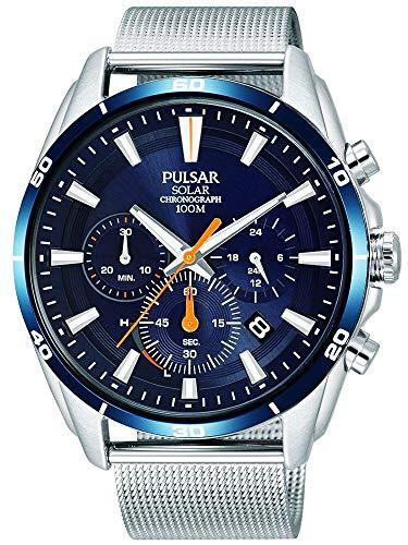 【セット商品】[パルサー] セイコー SEIKO パルサー PULSAR ソーラークロノグラフ腕時計 PZ5085X1 &マイクロファイバークロス 13×13cm付き[並行輸入品]