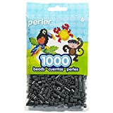 Nceonshop(TM) Perler Fun Fusion Beads 1000/Pkg Dark Grey PBB80-19-19092