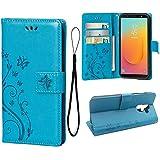 Wallet Case for Samsung Galaxy J8 2018, 3 Card Holder Embossed...