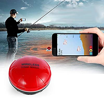 Smart Bluetooth Portable Fish Detector,sonar fish finder Sensor Depth Finders for Kayak Ice Fishing Sea Fishing Canoes Fishing from CICIN