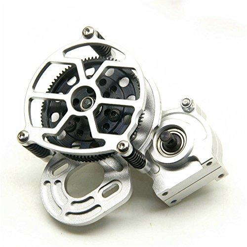 AXspeed Aluminium Getriebegehäuse Mitte Getriebe für 1/10 Axial SCX10 AX10 RC Crawler Silber
