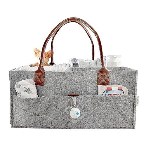 Starter Organisateur de sac à main de couche-culotte, grande capacité sac de bébé pliant feutre sac de stockage de couche-culotte organisant des enfants jouets organisateur de fourre-tout