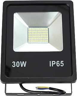 Proyector led slim 30W exterior IP65 SMD5730 6000K negro: Amazon ...