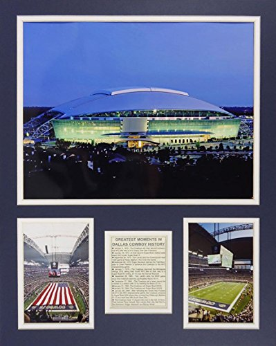 "Dallas Cowboys - AT&T Stadium 16"" X 20"" Unframed Matted Photo Collage by Legends Never Die, Inc."
