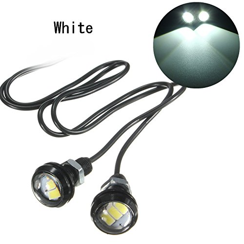 Alamor 12V 10W 5630 Led Eagle Eye Reverse Lampe De Voiture De Moto De La Porte Intérieure Lumières Décoratives-Blanc