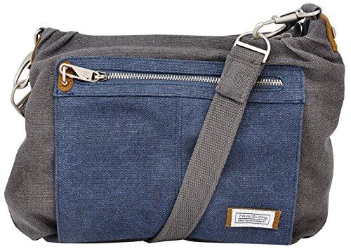 Travelon Anti-theft Heritage Hobo Bag, Pewter/Indigo