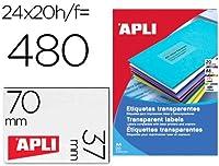 【APLI】レーザーコピーA4透明ラベル20枚24面 (AP-01224)