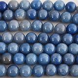 Calidad de Hight Grado A Natural aventurina azul semi-precious Gemstone ronda perlas–16'Strand, azul, 10mm (39-42 beads)