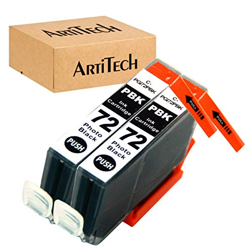 ArtiTech Replacement for Canon PGI-72 PBK PGI-72 Photo Black Compatible Ink Cartridges Work for Canon PIXMA Pro-10 PIXMA Pro-10S Printers,2 Pack PGI-72 PBK
