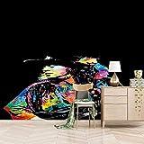 ZEISIX fotomurales 3d papel pintado cocinas dormitorio/Negro música guitarra chico/Aplicar para salones niños niñas juvenil habitacion bebe guardería dormitorio matrimonio cabeceros de cama despac