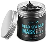 Dead Sea Mud Mask with Activated Charcoal, Deep Cleansing Clay Facial Mask for...