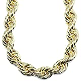 Mega Jewellery Gold plated Hip Hop Rope Chain XL Hollow 20mm x 30',