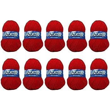 3033 10 pelotes de laine /à tricoter Distrifil AZURITE 3033 pas cher 100/% acrylique Distrifil