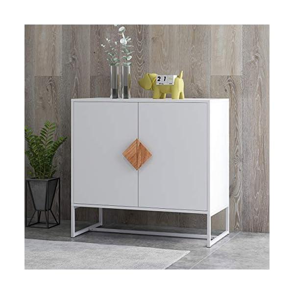 RASOO Sideboard Cabinet White Modern Kitchen Buffet Storage Cabinet Televison Tables...