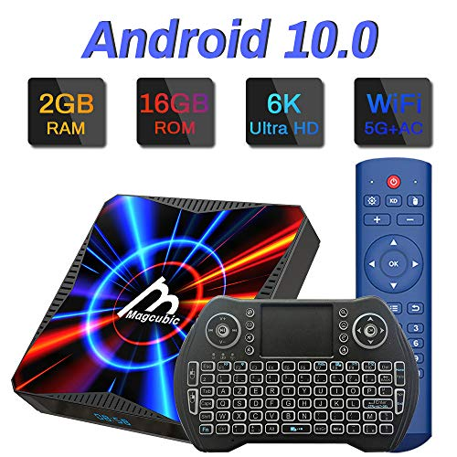 puissant TV Box, Android 10.0 2 GB RAM 16 GB ROM Allwinner H616 Quad Core Supports Dual WiFi 4K 6K Ultra HD …