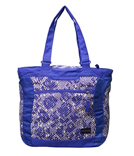 JanSport Ella Tote Bag (Purple Sky/Penelope Purple Scatter Snake)