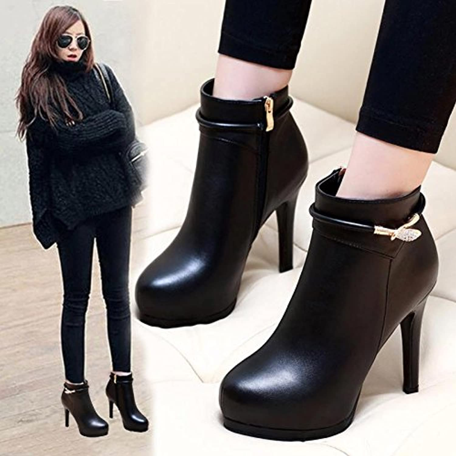 9b18c82a64eac GTVERNH-Autumn and winter winter winter fine and short boots women's ...