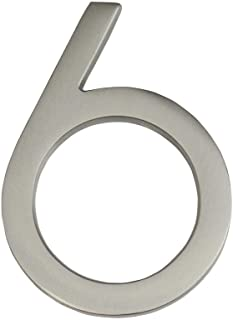 Architectural Mailboxes 3584SN-6 Frank Lloyd Collection Wright Address House Number, 6, Satin Nickel