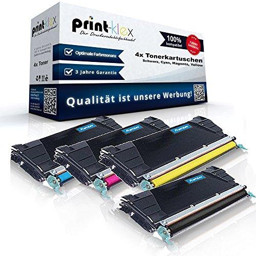 4x Kompatible Tonerkartuschen für Lexmark C734 C734DN C734DTN C734DW C734N C736 C736DN C736DTN C736NC C736N Optra - alle 4 Farben - Schwarz Cyan Magenta Yellow - Office Plus Serie