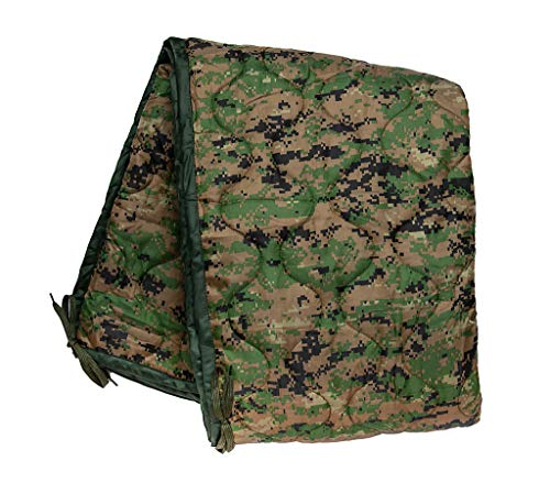PacMül Military Woobie Blanket - Thermal Insulated Camping Blanket, Poncho Liner – Large, Portable, Water-Resistant, for Hiking, Outdoor, Survival, Comes with Compression Carry Bag (MARPAT)