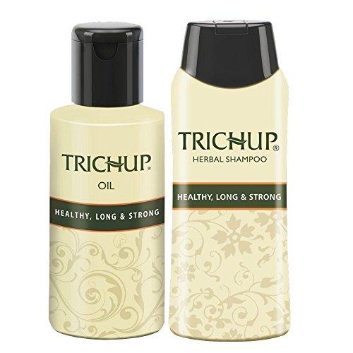 Trichup Pacco di 3 For Salutare, Lungo & Forte Capelli Puro Erbaceo Naturale Cura Capelli Olio (200ml x 2) And Capelli Shampoo (200ml) Combo Kit