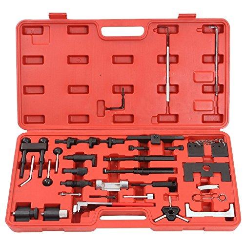 LARS360 Motoreinstell Werkzeug Arretierwerkzeug Zahnriemen Werkzeug Satz Motor-Einstellwerkzeug für Steuerriemen aus robustem Carbonstahl im Werkzeugkoffer