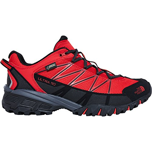North Face Ultra 110 GTX Trail Running Shoes UK 11.5 High Risk Red TNF...
