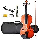 NANYI Size 1/4 beginner first violin Set, Natural Solid Wood Beginner Violin with Shoulder Rest, Rosin, Bow, Case, and Bridge, Stringed Musical Instruments Violin Music Hobby