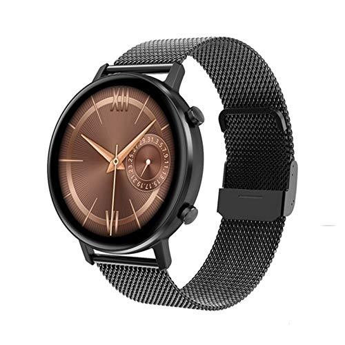 YZK Smart Watch Ladies Pantalla táctil Completa 360 * 360 RESOLUCIÓN DE LA RÁPIDAD DE LA RÁPIDAD DE LA PRESIÓN ANULA DE LA PRESIÓN sobre (para Android iOS) SmartWatch,A