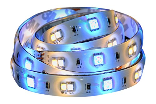 AWOX SSL-C361e Extension ruban LED couleur connecté Bluetooth StripLED 1m, Plastique, 12...