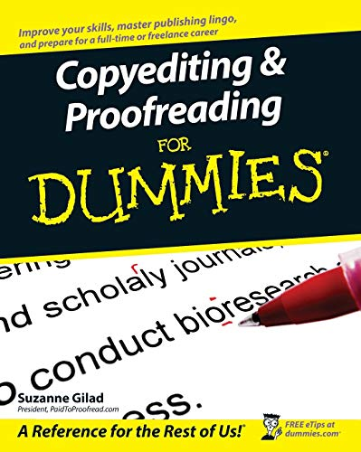 Compare Textbook Prices for Copyediting and Proofreading For Dummies 1 Edition ISBN 0352731567995 by Gilad, Suzanne