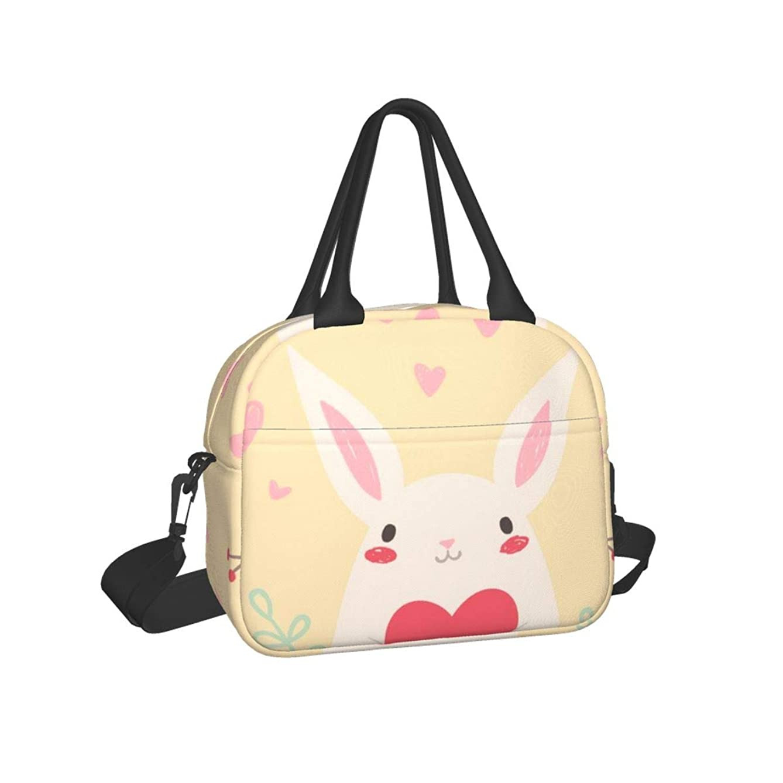 解任計画広くランチバッグ うさぎ 可愛い ピクニックバッグ お弁当 バッグ 手提げ お弁当 バッグ トートバッグ 弁当袋 通勤 男女兼用