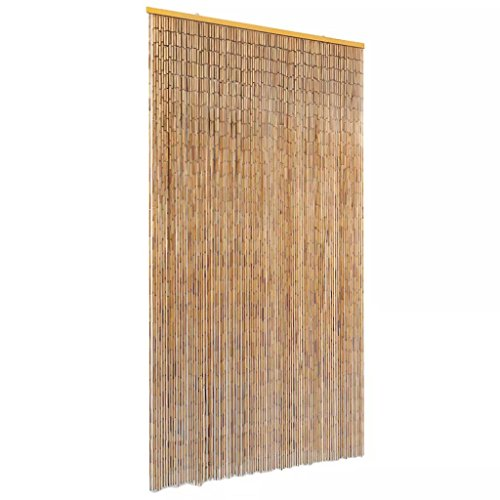 vidaXL Insektenschutz Türvorhang Fliegenschutz Dekovorhang Bambusvorhang Raumteiler Faden Vorhang Deko für Balkontür Bambus 100x220cm
