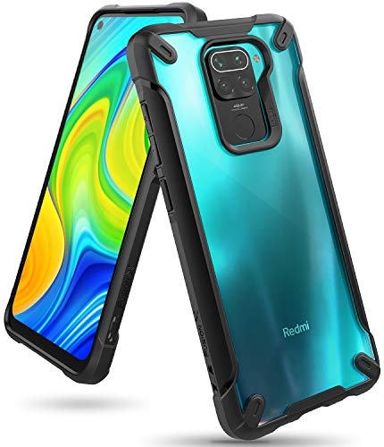 Ringke Fusion-X Diseñado para Funda Xiaomi Redmi Note 9 (2020) Transparente Carcasa Redmi Note 9, Parachoque TPU Resistente Impactos Funda Negra para Redmi Note 9 (6.53 Pulgadas) – Black (Negr