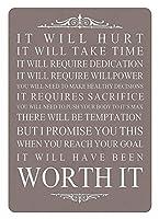 Quote Worth It Motival 金属板ブリキ看板警告サイン注意サイン表示パネル情報サイン金属安全サイン