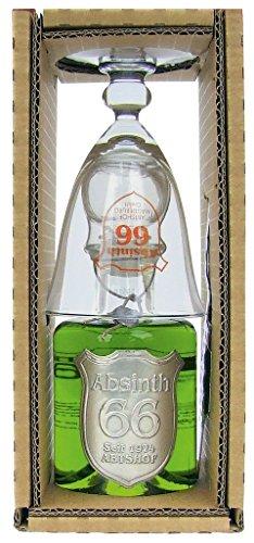 Absinth - 66 Abtshof Single-Set 66% Vol. - 0,2l incl. Absinthlöffel & -glas