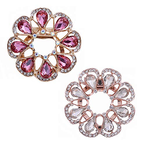 N\A Rhinestone Brooch Pin Artificial Crystal Cloak Pin Flower Shawl Clip for Women Girls Accessories
