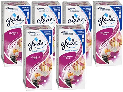 Glade Touch & Fresh Relax et zen Lot de 6 recharges pour diffuseur 10 ml