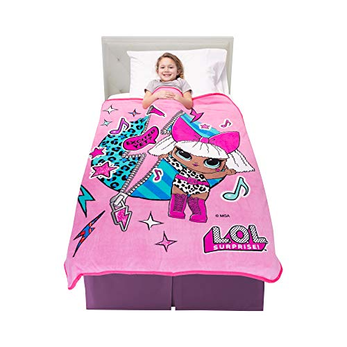 "Franco Kids Bedding Soft Plush Microfiber Throw, 46"" x 60"", LOL Surprise"