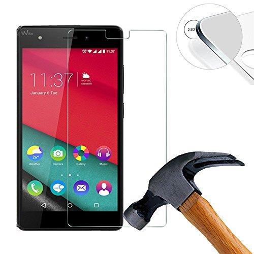 Lusee 2 Stück Schutzfolie für Wiko Pulp 3G / 4G 5.0 [9H Festigkeit] Bildschirmschutzfolie HD Schutzfolie [Anti Kratzer] [Anti Fingerabdruck] 2.5D Panzerfolie für Wiko Pulp 3G / 4G 5.0