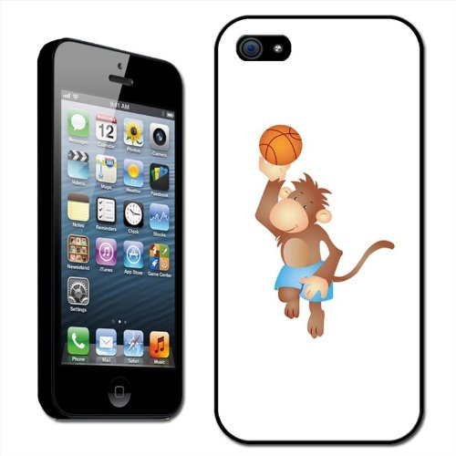 Fancy Een Snuggle Harige Aap spelen Basketbal in Shorts Clip Op Back Cover Hard Case voor Apple iPhone 5