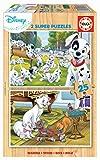 Educa- Disney Animals 101 Dalmatas, Aristogatos 2 Puzzles de 25 Piezas, Multicolor (18082)