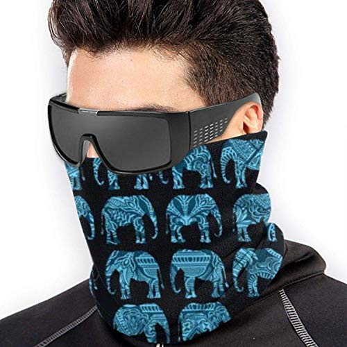 ShiHaiYunBai Tour de Cou Cagoule Microfibre Chapeaux Tube Masque Visage, Neck Gaiter Warmer Windproof Mask Dust - Free UV Face Mask - Indian Culture Elephants