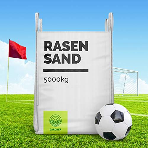 Quarzsand - Sand für Sportplatz/Fußballplatz Rasen zur Bodenverbesserung im praktischen Bigbag 5000kg inkl. Versand (5000)